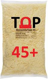 Pizzakaas Center Mozzarella/kaas 45+ zak 2 kg